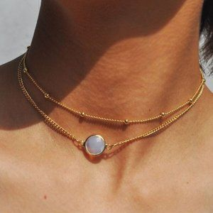 Jewelry - NWOT Gold Opal Layer Necklace